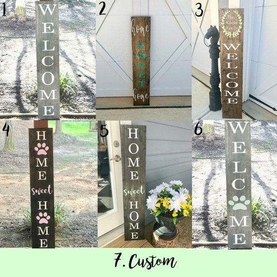 Reversible Front Porch Sign | Customized Front Porch Sign | Paw Prints | Gift for Dog Lovers | Home Decor | Housewarming GIft