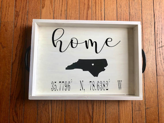 Custom Wood Tray | Coffee Table Decor | Coffee Table Tray | Home Decor | Farmhouse | Rustic | Personalized Wood Tray