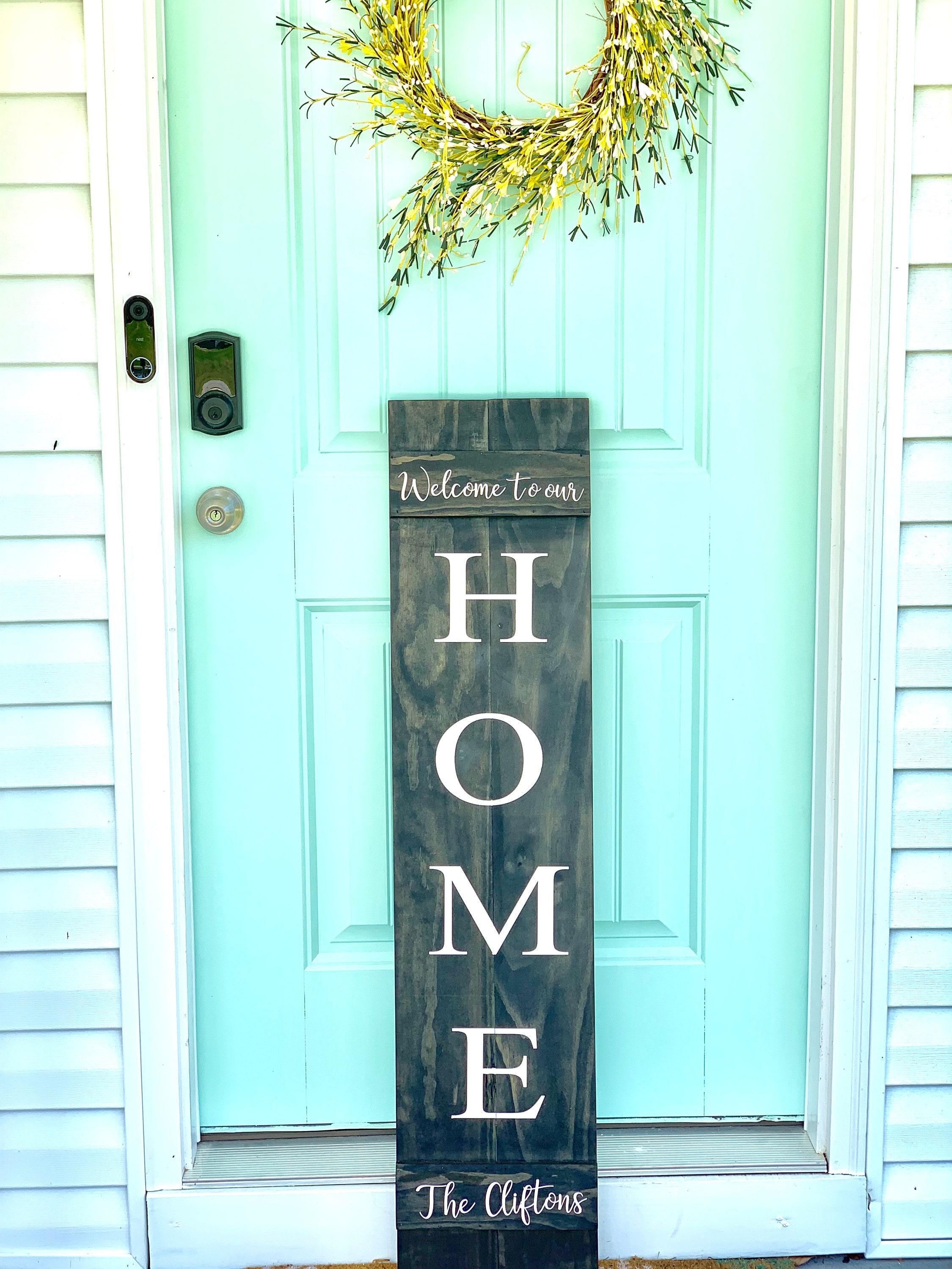 Custom Front Porch Sign | Welcome To Our Home ...