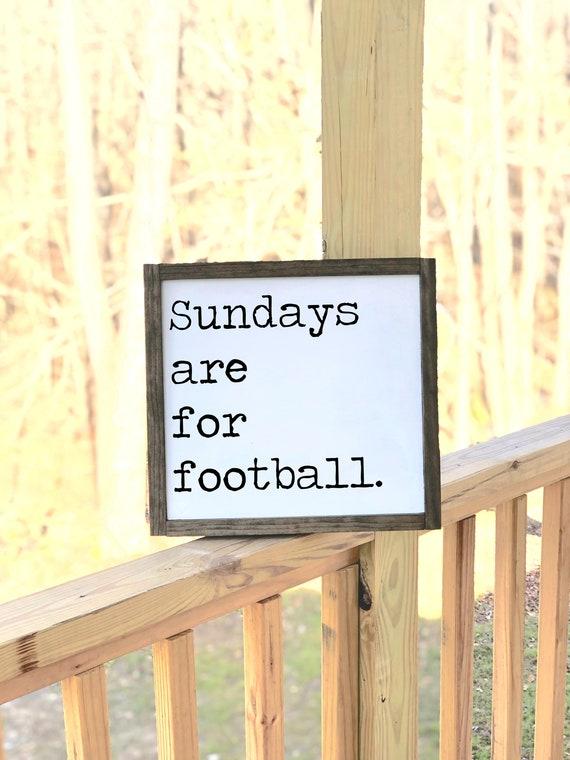 Sundays are for football | Framed Wood Sign | Farmhouse Decor | Fall Decor | Mancave | Gift for Him | Garage