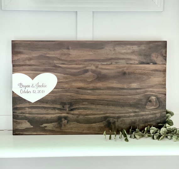 Custom Wooden Wedding Guest Book Sign | Rustic Decor | Hand Painted Sign | Personalized Guest Book | Wedding Decor |