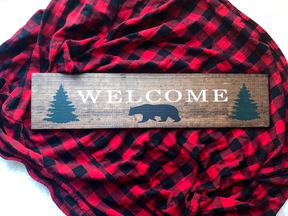 Welcome Sign | Rustic Wood Sign | Cabin Welcome Sign | Mountain Decor