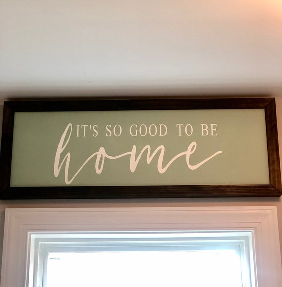 Chunky framed wood sign   It's So Good To Be Home   Farmhouse Decor   Christmas Gift Rustic Wood Sign   Housewarming Gift   Home Decor