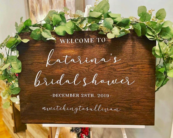 Custom Wooden Bridal Shower Welcome Sign | Rustic Decor | Hand Painted Sign | Personalized Sign | Wedding Decor | Bridal Shower Decor |