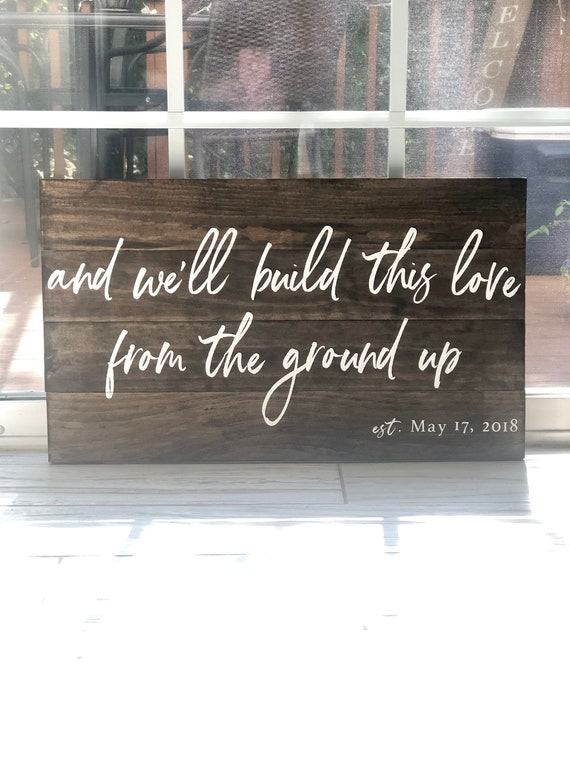 From the Ground Up | Rustic wood sign | Home Decor | Wedding Gift | Anniversary Gift | Wedding Decor | Farmhouse