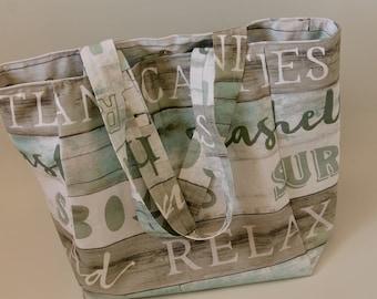 Beach bag, Tote bag, Market bag, Shopping bag, Eco-friendly bag, reusable bag, handmade bag, gift for her, bag for life.