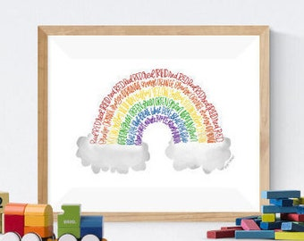 Rainbow Print | Rainbow Art | Print | Nursery Decor | Rainbow Art | Nursery Art