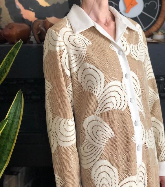1960s vintage Malia Honolulu white cotton lace ma… - image 7