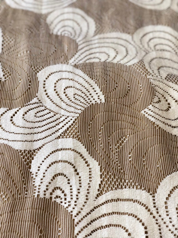 1960s vintage Malia Honolulu white cotton lace ma… - image 9