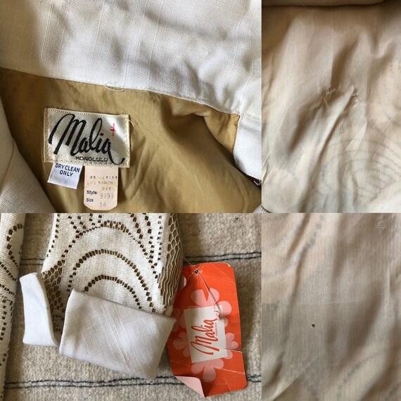 1960s vintage Malia Honolulu white cotton lace ma… - image 10