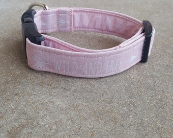 Pink Wild and Free Dog Collar