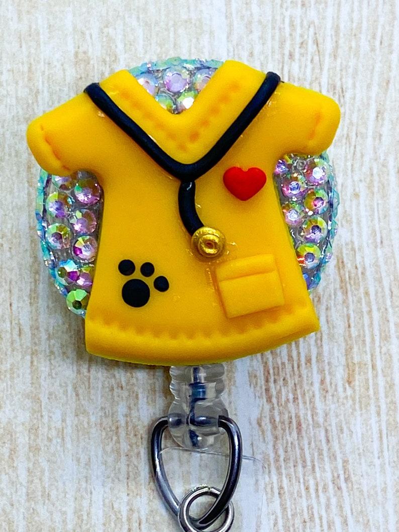 Stethoscope Id Tag ID Badge Holder Badge Reel Nursing Student Gift Scrubs Retractable Badge Holder Carabiner Lanyard