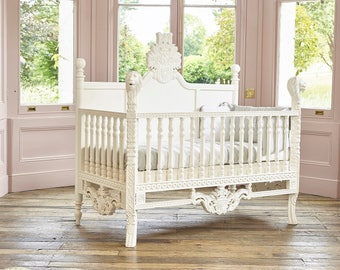 Rococo Bed Kopen : In stock bespoke rococo french style cot bed hand made etsy