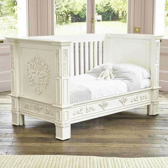 IN STOCK - BESPOKE - Rococo French style cot bed - Hand made in Kent