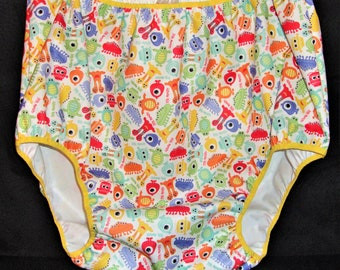 """ABDL Waterproof PUL """"Little Monsters"""" Diaper Cover"""