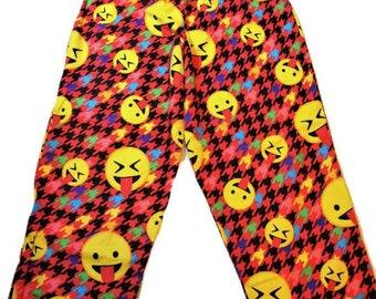 ABDL Emoji Flannel Pajama Bottoms