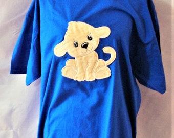 "ABDL ""Lion Cub"" Applique Tee Shirt"