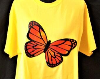 Butterfly Applique Tee Shirt