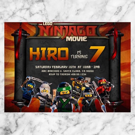 Lego Ninjago Birthday Invitation Lego Ninjago Party Lego Ninjago