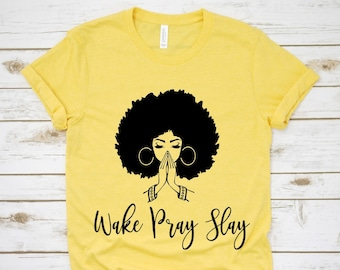17bdfc3af7b9 Wake Pray Slay T-Shirt/Faith Tee/Christian T-Shirt