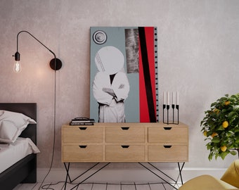 Wall art collage canvas print image - Alone