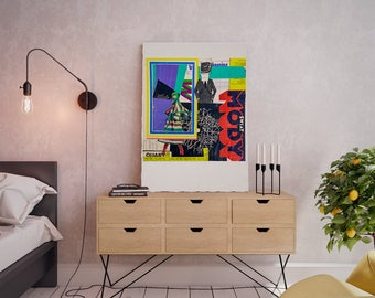 Wall art collage canvas print image - Moments