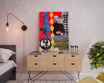 Wall art collage canvas print image - Friend