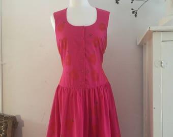 1980's vintage BARBARA VANDENBERG poly/cotton dress size 14