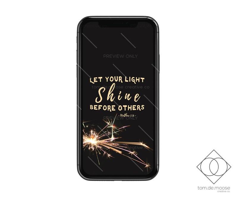 Matthew 5:16 - Scripture Phone Wallpaper - Bible Verse Design
