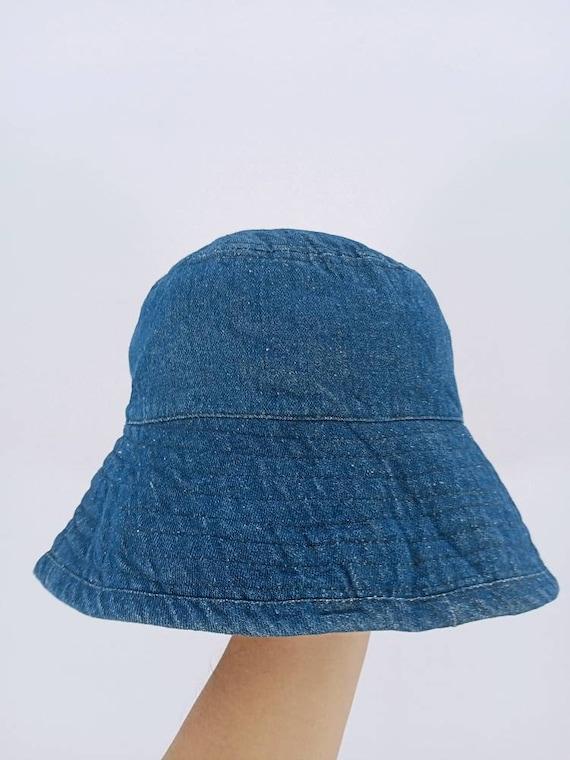DENIM BUCKET HAT Large Size 59cm Blue Denim