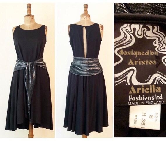 1970s vintage Aristos Ariella black and silver lur