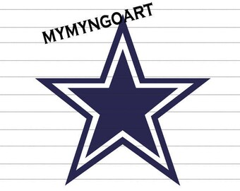 Dallas Cowboys Logo Svg, Eps, Dxf, Pdf, Png, Jpe for Cricut and Silhouette-Digital Download.