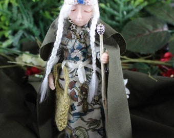 "Mystical Celtic/Norse.Viking  Maiden "" Britt"" Figurine/Doll Fantasy.Magical Collectable."