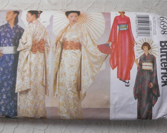 badc91fea0 Butterick 6698 Sewing Pattern Kimono Robe