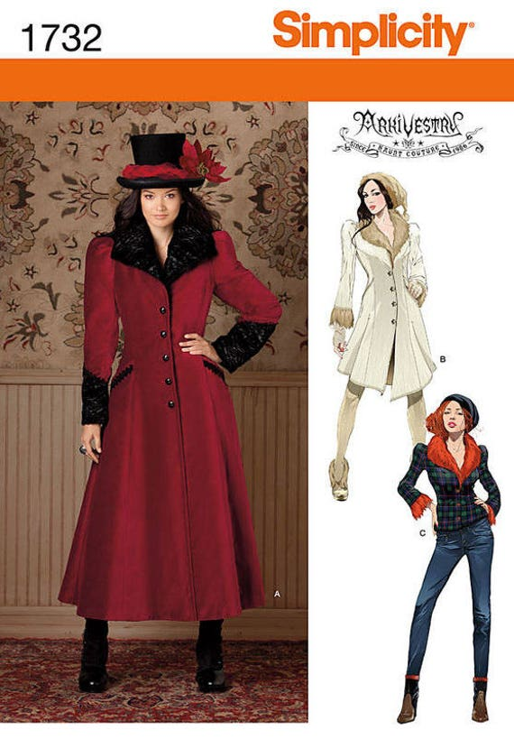 Simplicity Costume Pattern 8075 Ms Steampunk Gothic Cosplay from ARKIVESTRY