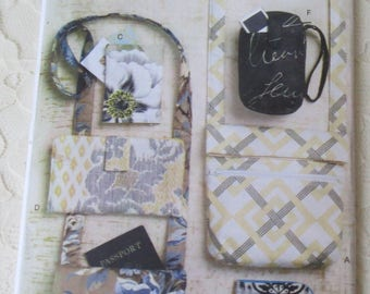 Butterick B5728 Waverly Sewing Pattern Bags, Wristlet, Wallet, Purses, All Sizes