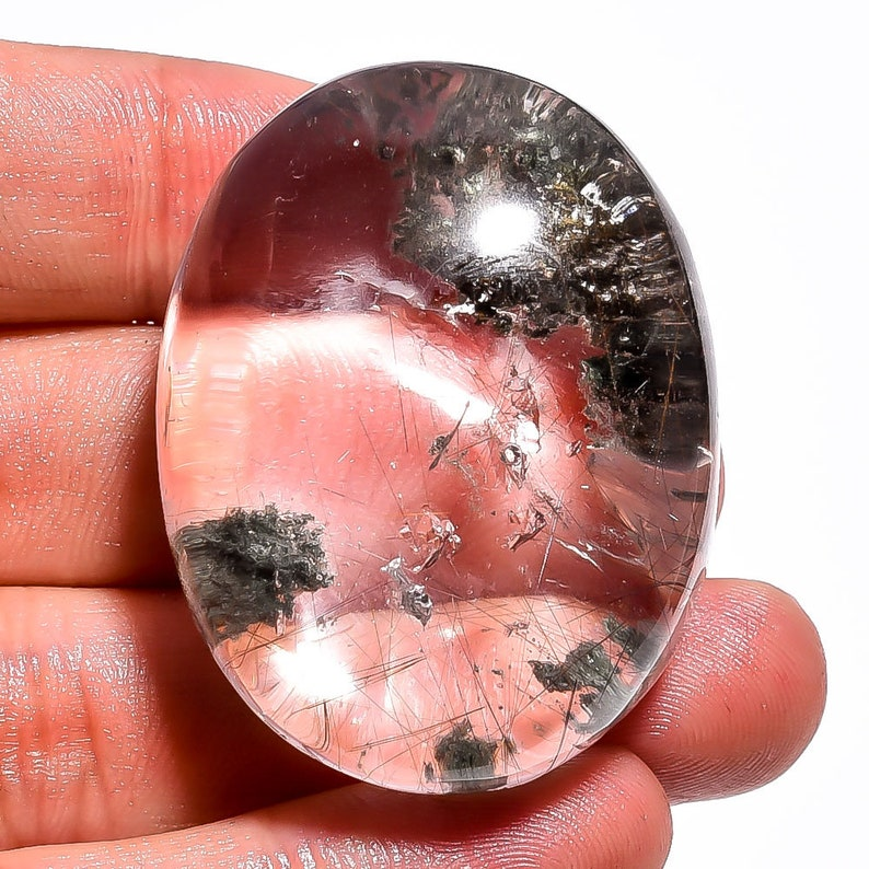 41x32mm 218Cts Lodolite Quartz Rutile Gemstone Beautiful Lodolite Quartz Rutile Mix Gemstone Handmade Jewelry Making Loose Gemstone Z7360