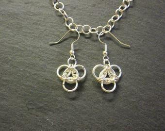 Aura Chainmail Earrings