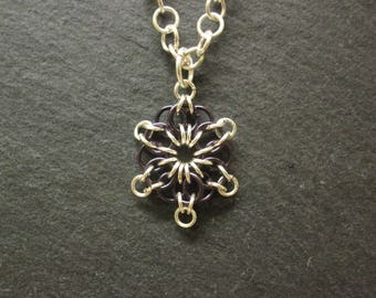 Celtic Star Chainmail Pendant
