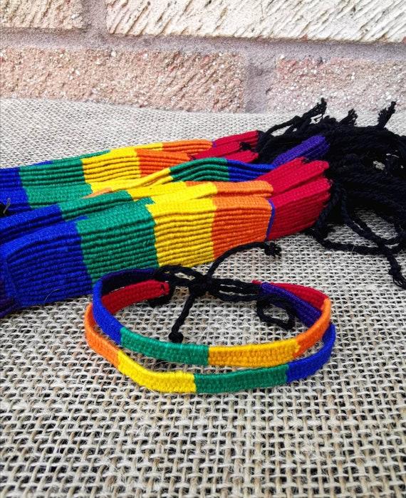 Festival Summer Bracelet Multi Colour Set of 2 Beach Hand woven Silk Friendship Bracelets Best friend Gift Flat Design Boho Chic