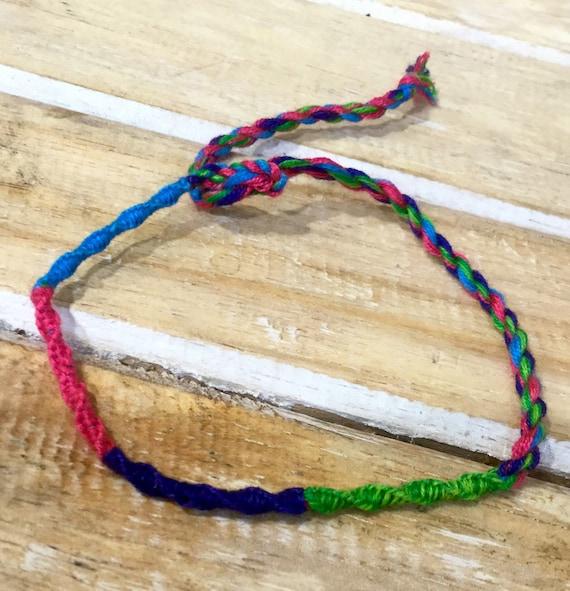 Angklets rainbow friendship chakra bands Rainbow Friendship bracelets