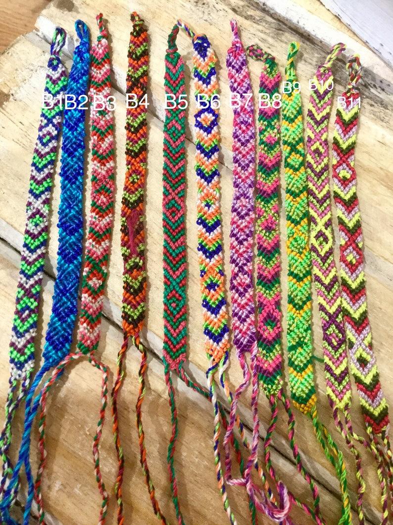 de554702b92 Woven Omega Friendship bracelets Chevron Design Party | Etsy