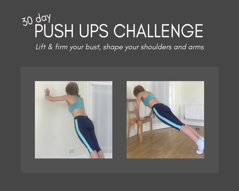 Push ups 30 day challenge workout chart and workout stickers image 0