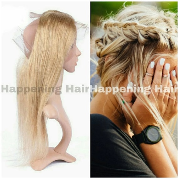 Blonde Peruvian Remy Real Human Hair Extensions 360 Lace
