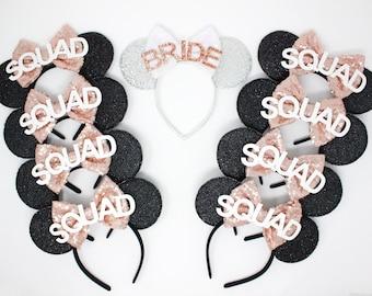 Bachelorette Party Mouse Ears | Bridal Party Mouse Ears | Bridal Party Ears | Bachelorette Party | Any Color + Quantity