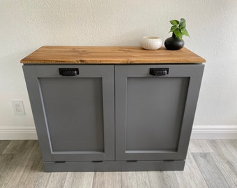 Trash Can Cabinet Etsy
