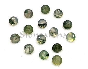 Loose Semi Precious Gemstone Suppliers Jewelry Making AG-5060 48X12X7 MM Handmade Pendant Cabochon New Arrivals Moss Agate Cabochon
