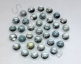 Loose Cabochon. 5 Psc Natural Designer Grey Sun Stone Cabochon,Size 13x10 to 11x9 MM,31 Cts Grey Sunstone Oval Cabochon Gemstone Lot