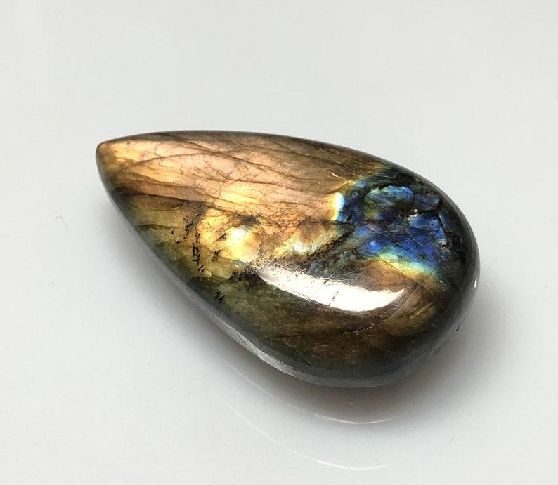 84 Cts 46x26 mm Spectrolite Stone. Labradorite Designer Gemstone Labradorite Pear Cabochon Natural Labradorite Multi Fire Cabochon