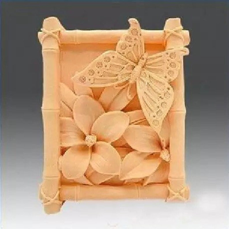 Butterfly flower silicone soap mold flower soap mold silicone molds Rose plaster mold Ice mold silicone mold resin mold candle mold